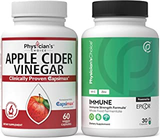 Apple Cider Vinegar Capsules for Weight Loss Support + Immune Support - Immune Booster Featuring EpiCor