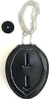 Badge Holder, Universal, Black, Leather