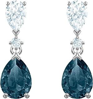 Swarovski Crystal Vintage Blue Drop Earrings