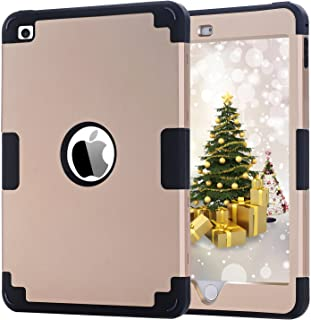 iPad Mini 4 Case,iPad Mini 4 Retina Case,BENTOBEN Anti-Slip Shock-Absorption Silicone High Impact Resistant Hybrid Three Layer Protective Cover for iPad Mini 4 -Gold&Black