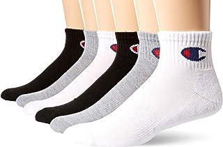 Men's Double Dry Moisture Wicking Logo 6-Pack Ankle Socks