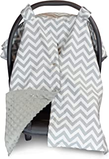 2 in 1 Carseat Canopy and Nursing Cover Up with Peekaboo Opening | Large Infant Car Seat..