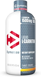 Dymatize Liquid L-Carnitine Advanced Metabolic Support, Tangy Orange, 16 Ounce
