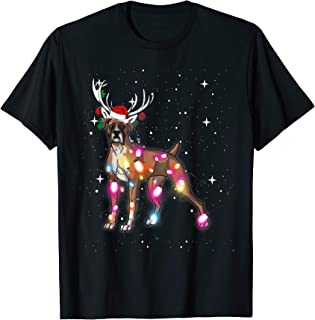 Christmas Lights Boxer Dog T-Shirt