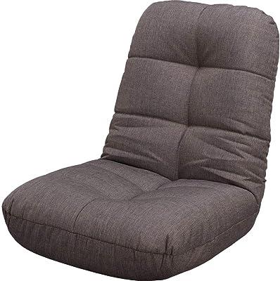 アイリスプラザ 座椅子 リクライニング ポケットコイル チャコールグレー 60×60×65.5cm POZ-36