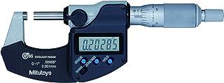 "Mitutoyo 293-340-30 Digital Micrometer, Inch/Metric, Ratchet Stop, 0-1"" (0-25.4mm) Range, 0.00005"" (0.001mm) Resolution,..."