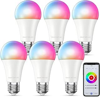 MMcRRx Alexa lampadina smart E27,Lampadina WIFI RGB compatibile con Alexa Google Home Echo, 850LM,Lampadina cambia colore,...