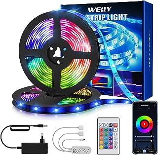 Ruban LED 15M Wifi , WEILY 15M couleur flexible de changeant la bande légère menée intelligente de contrôle de téléphone d...