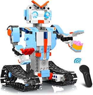 AOKESI Remote Control Robot Building Blocks Educational Kit Engineering STEM Building Toys Intelligent Gift for Boys and G...