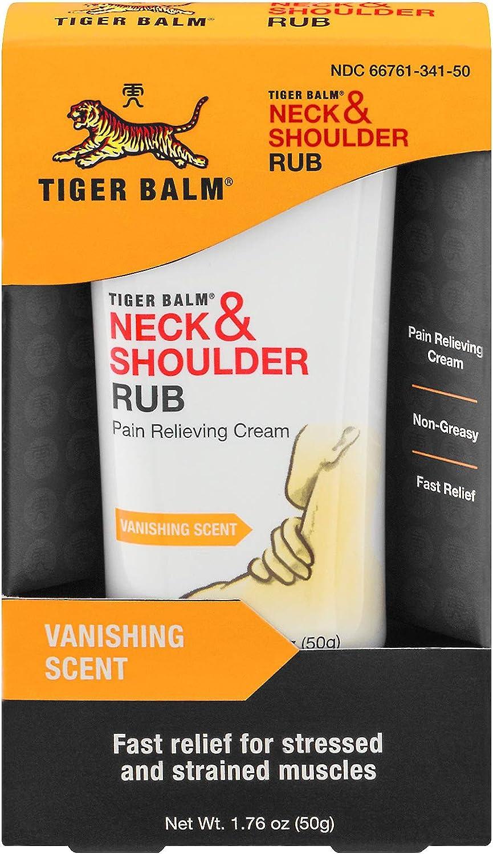 Tiger Balm Neck  Shoulder Rub Vanishing Scent 1.76 oz (Pack of