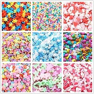 ANPHNIE Fake Candy Sweets Sugar Sprinkles - 10 Packs of Colorful Ice Sprinkles Decorations for Slime Kit DIY Cake Dessert ...
