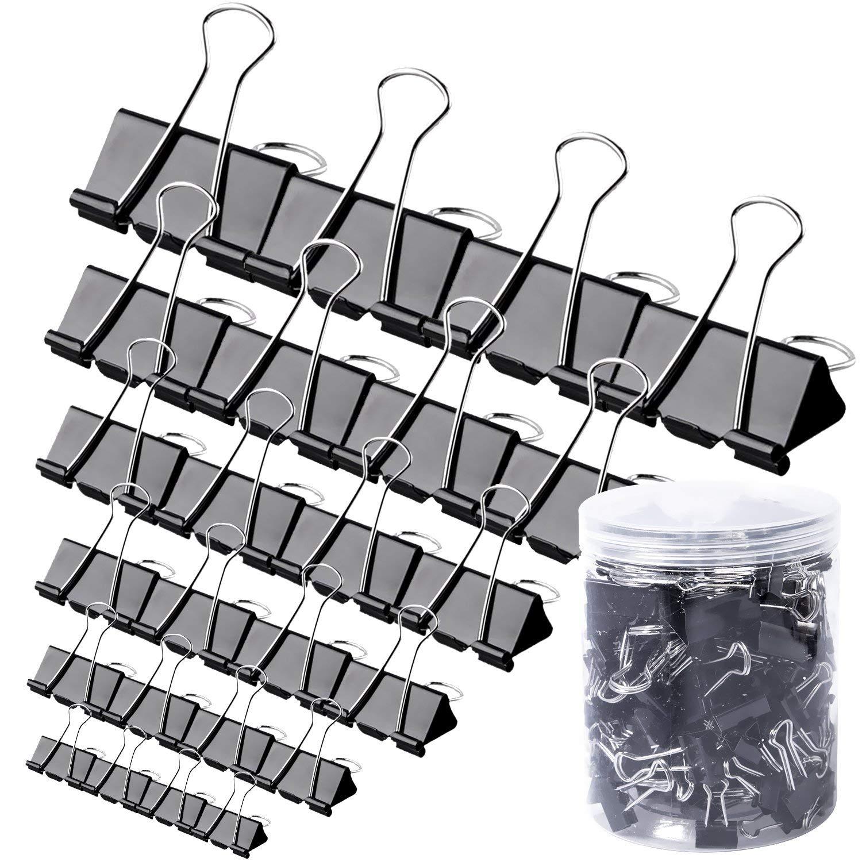 120 Piece Binder Clips Assorted Sizes