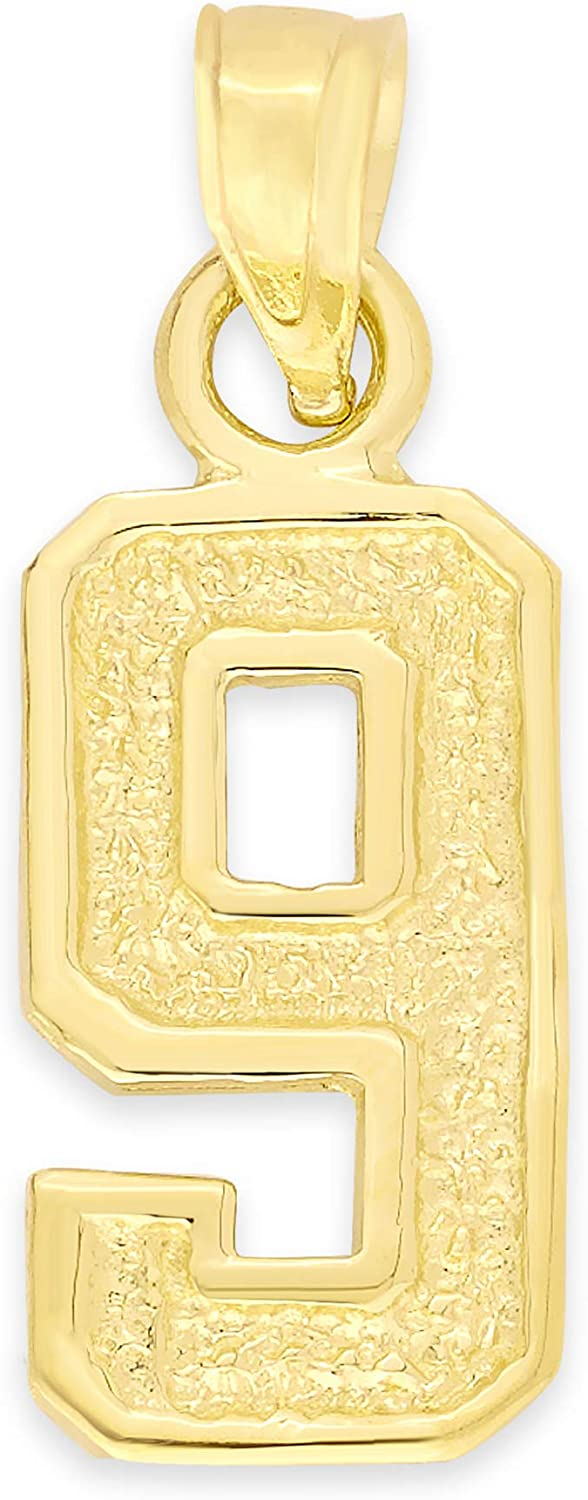 10k Real Solid Gold free Athletic Number Chain for or Pendant Weekly update Necklac
