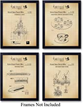 Disney Rides Patent Art Prints - Vintage Wall Art Poster Set - Chic Rustic Home Decor for Boys, Girls, Teens, Kids Room - Gift for Mickey Mouse, Disney World, Disneyland Fans, 8x10 Photo Unframed