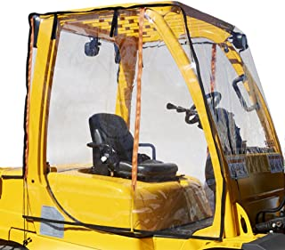 Atrium by Eevelle Universal Clear Forklift Cab Enclosure Cover, Windshield & Rain Canopy Cover, Heavy Duty, Waterproof Vin...