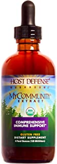 Host Defense - MyCommunity Multi Mushroom Extract, Comprehensive Support for a Robust and Resilient Immune System with Lion's Mane and Turkey Tails, Non-GMO, Vegan, Organic, 120 Servings (4 Ounces)