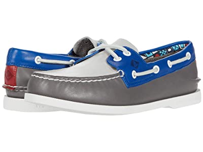 Sperry A/O 2-Eye Plushwave Nautical (Grey Multi) Men
