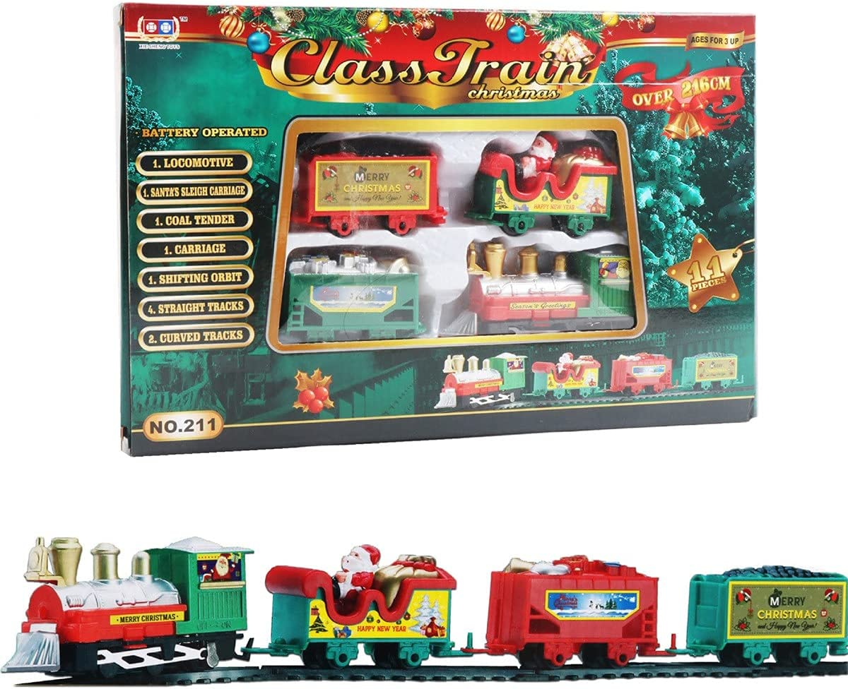 WUMAWEI Christmas Train Set Electric Toy Factory Free Shipping New outlet for Girls Boys