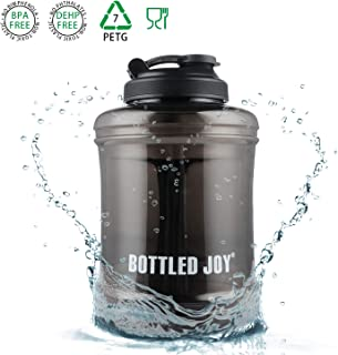 BOTTLED JOY 83 oz Large Water Bottle Upgraded Version Leak Proof Wide Mouth Plastic Sports Water Jug BPA-Free Durable for Outdoor Travel Office Gym
