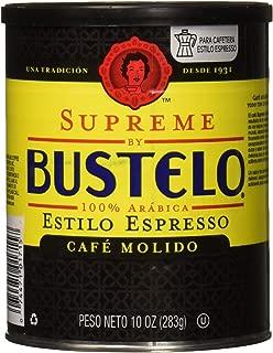 SUPREME BUSTELO ESPRESSO GROUND COFFEE CAFFEINE CAN 10 OZ - 0074471017152