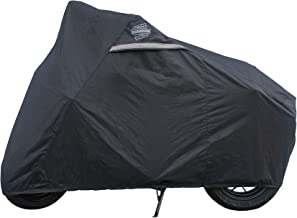 Dowco Guardian 51096-00 WeatherAll Plus Heavy Duty Outdoor Waterproof Motorcycle Cover: Black, Fits Honda Grom and Kawasaki Z125