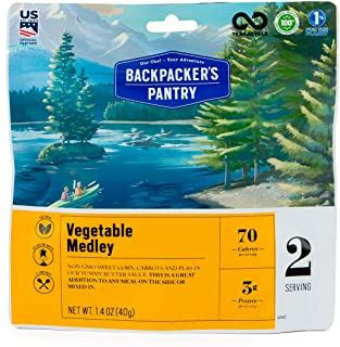 Backpacker's Pantry Vegetable Medley, 2 Servings Per Pouch, Freeze Dried Food, 13 Grams of Protein, Vegetarian