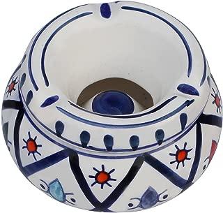 SouvNear Ceramic Lid-Moroccan Handmade Ash Tray 4.6