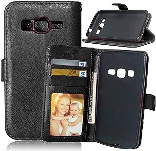 FUBAODA Funda de Piel para Samsung Galaxy Core Prime Prevail LTE G360,[Cable Libre] Cierre magnético,Ranuras para Tarjeta de crédito para Samsung Galaxy Core Prime Prevail LTE G360(Negro)