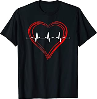 EKG Heartbeat Love Cardiogram T-Shirt Hollow ECG Heart