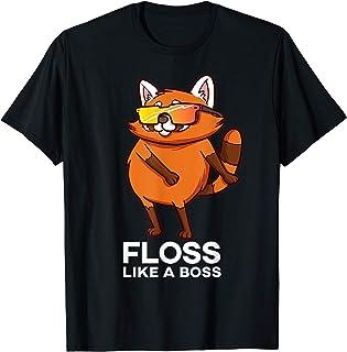 Danse Rouge Petit Panda Fête Animal Gift Garçons Filles T-Shirt