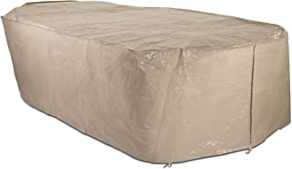 Polytuf Medium Duty Garden Furniture Cover in Neutral Beige Suitable For a Large Rectangular Table and Chair Set (Size L: ...