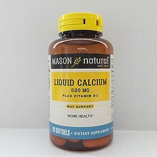 Mason Natural Liquid Calcium 600 with Vitamin D Softgels, 60 Count