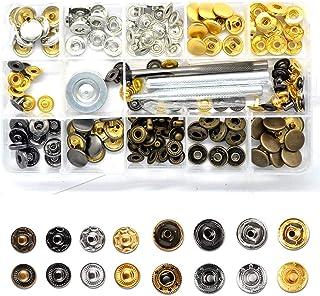Boutons pression pour jeans vieux bronzé crâne motif en métal 6 sets 20 X 8 mm