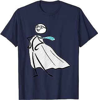 Businessman Stickman Superhero Stick Figure Tie Cape T-Shirt