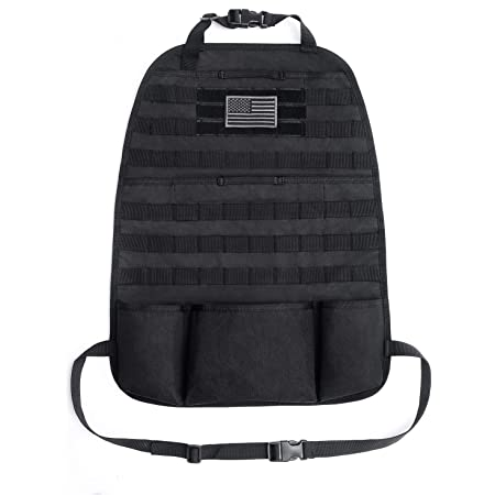 Car Seat Back Organizer Tactical Molle Storage Bag Pocket Holder Auto Pouch Mesh