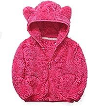 iChunhua Baby Girls Bear Ears Shape Fleece Long Sleeve Jacket Sweatshirt Outwear