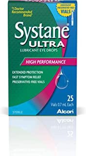 Systane Ultra Lubricant Eye Drops, 25 Vials, 0.7-mL Each