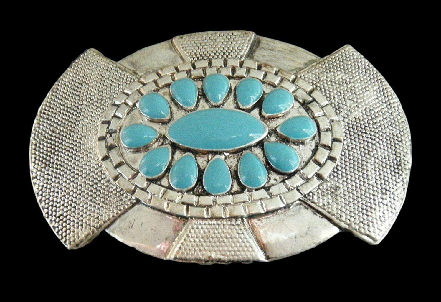 Turquoise Stone Hippie Belt Sales for sale Buckle Silver Ranking TOP17 Natives Stones Color B