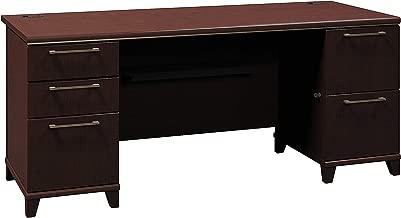 Bush Business Furniture Enterprise Collection 72W Double Pedestal Desk in Mocha Cherry