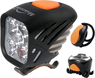 Magicshine MJ 906, High Grade MTB Enduro Bike Light Set, 5000 Lumens of Max Output. Bicycle Lights Front and Rear Combo with Remote. LED Bike Tail Light, Perfect Beam Pattern Bright Bike Light