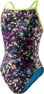 Speedo Women's Flipturns Spectacular Splatter Propel Back Swimsuit - 34