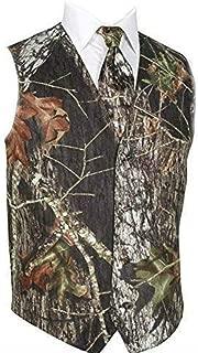 Men's British Style Slim Fit Camouflage Wedding Vest(Vest+tie)
