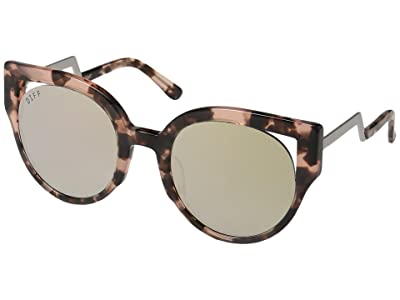 DIFF Eyewear Penny (Himalayan Tortoise/Taupe) Fashion Sunglasses