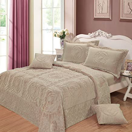 featured product DaDa Bedding YG12-117T Comfy Paisley 3-Piece Bedspread Set,  Twin,  Grey