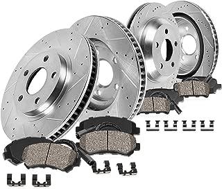 Callahan CDS03614 FRONT 322.4mm + REAR 300mm D/S 5 Lug [4] Rotors + C Pads + Clips + Sensors [Mercedes C300 C350 E350]