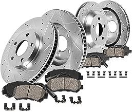 Callahan CDS02314 FRONT 295mm + REAR 300mm D/S 5 Lug [4] Rotors + Ceramic Brake Pads + Clips [ Mercedes Benz E320 E350 ]