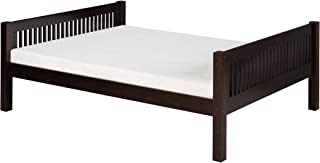 Camaflexi Mission Style Solid Wood Platform Bed, Full, Cappuccino