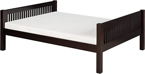 Camaflexi Mission Style Solid Wood Platform Bed Full Cappuccino