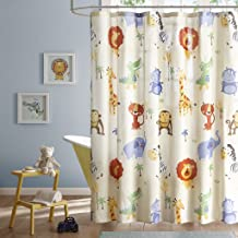 Safari Sam Kids Shower Curtain, Print Animal Shower Curtains Bathroom, 72 X 72, Multi Color