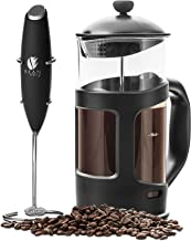Professional Grade 34 oz French Press Coffee Maker & Premium Milk Frother With Stainless Steel Stand - Save Time & Money W...